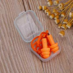 Soft Silicone Wired Ear Plugs Noise Reduction Caps Earmuffs