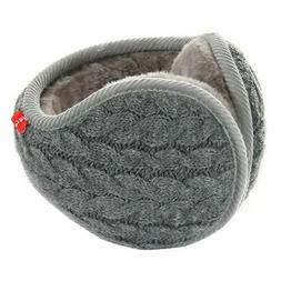 Surblue Unisex Warm Knit Cashmere Winter Pure Color Earmuffs