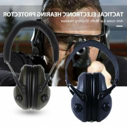US Tactical Electronic Ear Muffs Protection Noise Canceling
