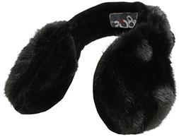 180s Women's Vail Faux Fur Ear Muffs, Black, One Size