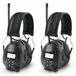 Walkers Hearing Protection Over Ear AM/FM Radio Earmuffs, 2