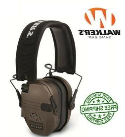Walkers Razor Series Hearing Protection Dark Earth Slim Shoo