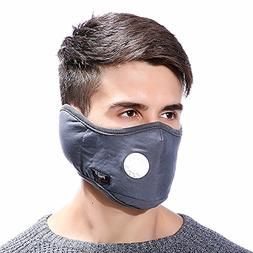 Aodewe Men and Women Windproof Two in One Face Mask Earmuff