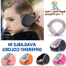 Winter Ear Muffs Warmers Knit Foldable Earmuffs Earwarmer Fu