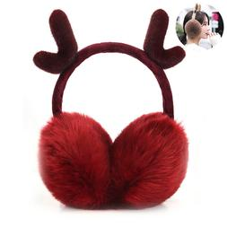Winter Plush Ear Pad Back Wear Earmuffs Headband Warmers Gif