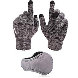 Ohequbao Winter Warm Touchscreen Gloves and Unisex Foldable