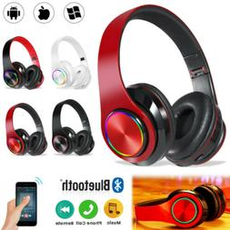Wireless Bluetooth 5.0 Headphone Headset Noise Cancelling Ov