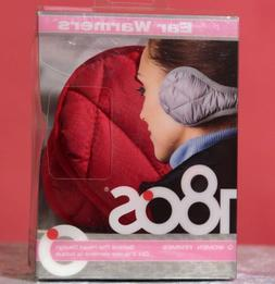 180s Women Ear Warmers Keystone Red Puffy Quilt Collapsible