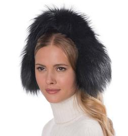 women s hat pur ear muffs black