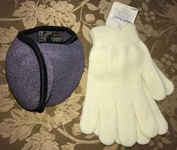 womens one size fits most NEW NWT ivory white GLOVES stretch