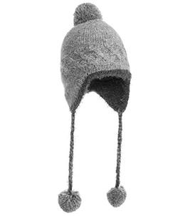 wool knit peruvian beanie snow
