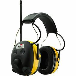 3M WorkTunes Hearing Ear Protector Earmuff, MP3 Compatible w